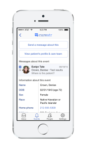 Care Transition Notifications on Mobile Device